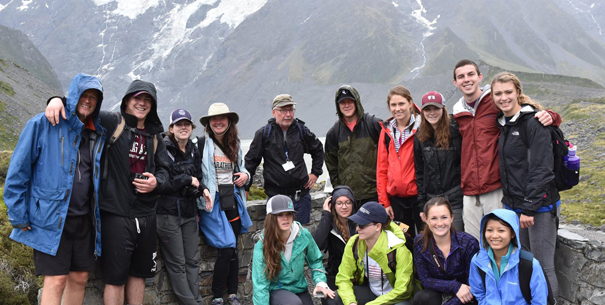New Zealand study abroad group