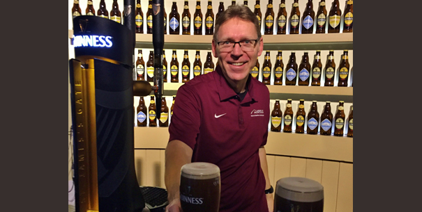 David Firth pouring the perfect Guinness