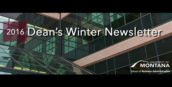 Dean's Winter Newsletter
