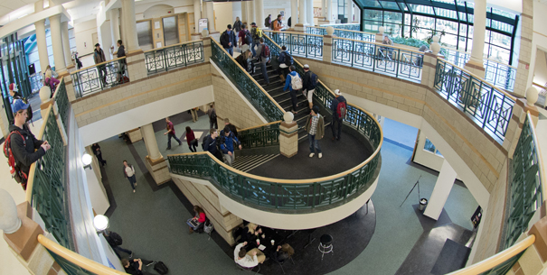 Gallagher Business Building main staircase