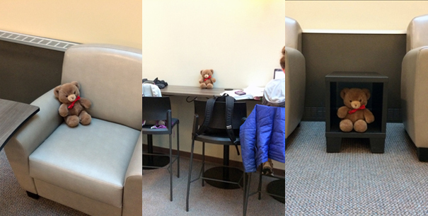 New furniture in student lounge