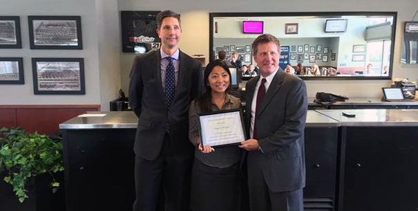 First-place winner of UM Northwestern Mutual Scholarship Sales Competition
