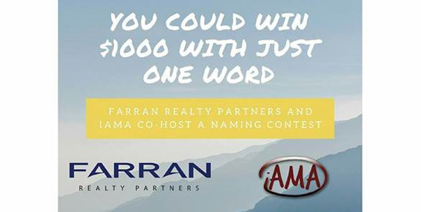 Farran Realty partners and IAMA co-host a naming project