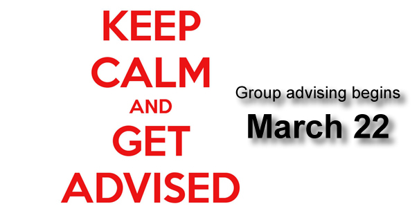 Group advising begins March 22