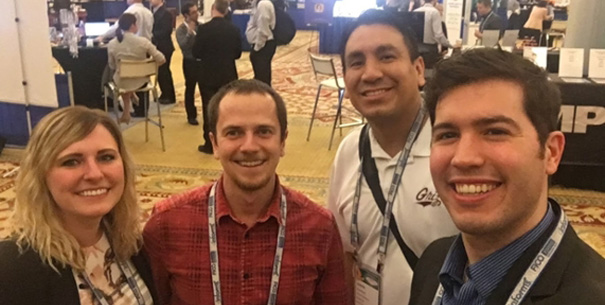 MSBA Students Jacqueth, Brewer, Staggs and Monroe in Las Vegas